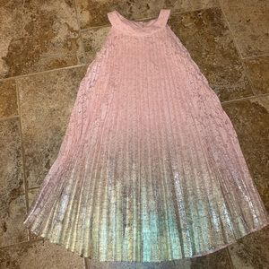 Lace peach/pink girls dress